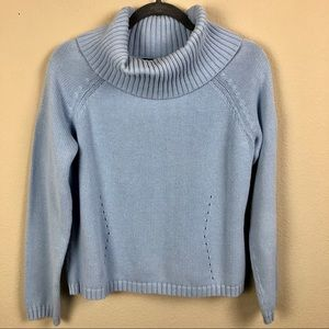 Style & Co Light Blue Turtleneck Sweater M